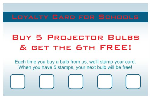 SAV loyalty card for schools